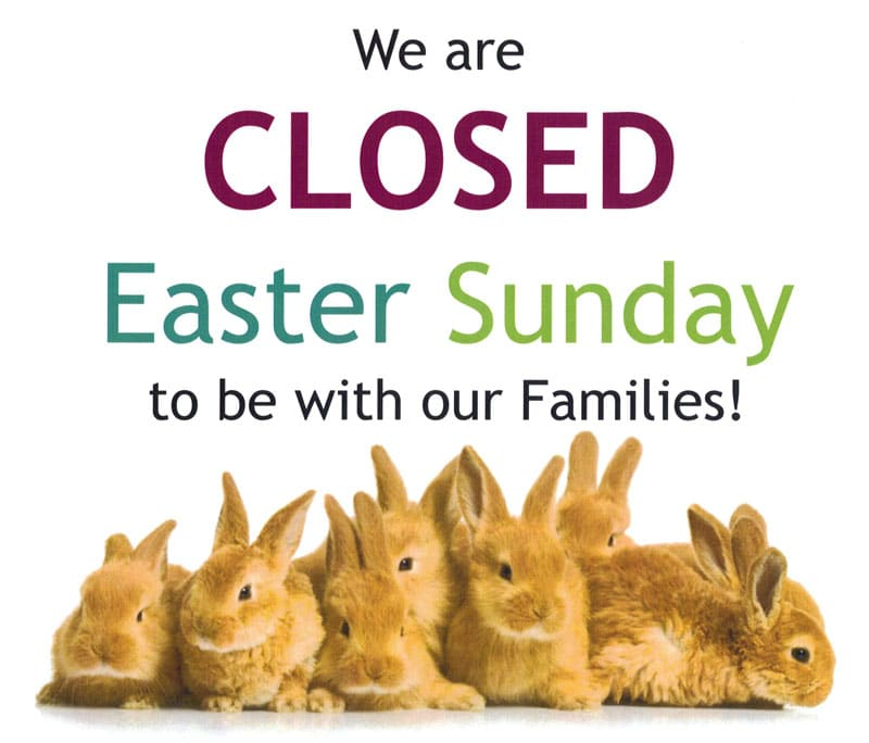 Closed Easter Sunday @ Albuquerque | New Mexico | United States