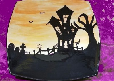 Halloween Sunset Plate