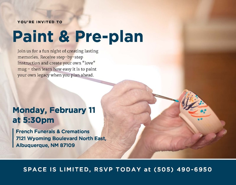 Paint and Pre-plan @ French Funerals & Cremations | Albuquerque | New Mexico | United States