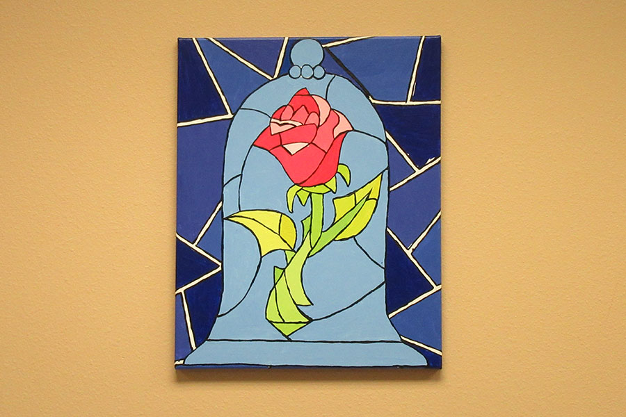 Enchanted Rose Canvas Class @ Cottonwood Mall | Albuquerque | New Mexico | United States