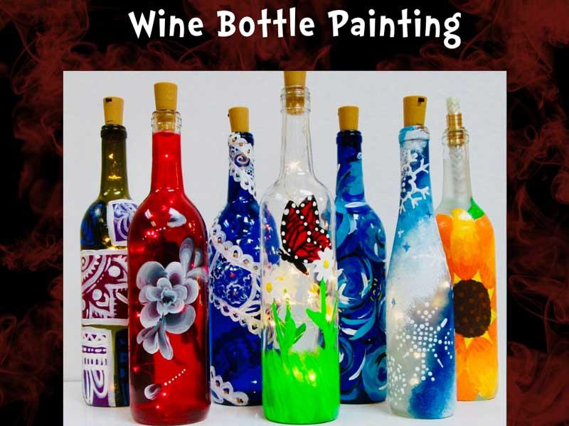 Wine Bottle Painting @ Rio Bravo Brewing Company | Albuquerque | New Mexico | United States
