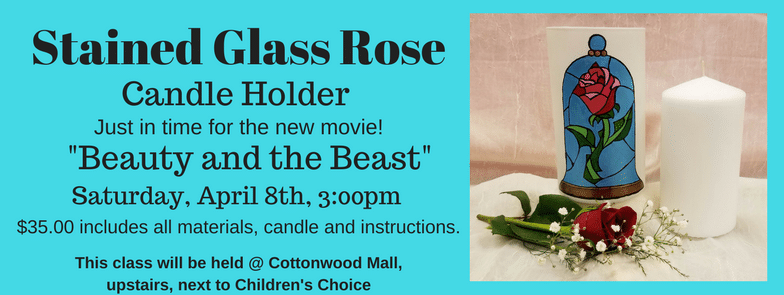 Stain Glass Rose Candle Holder @ Cottonwood Mall | Albuquerque | New Mexico | United States